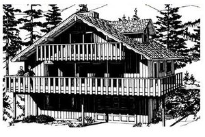 Bungalow Exterior - Front Elevation Plan #320-303
