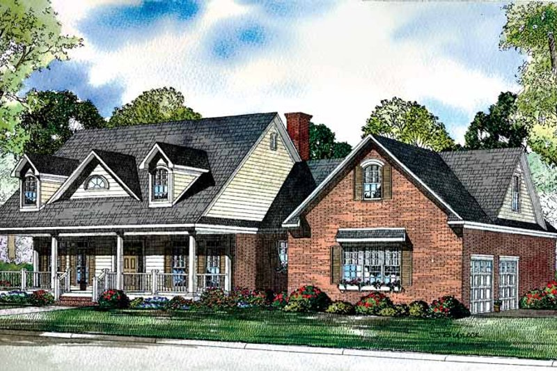 Country Exterior - Front Elevation Plan #17-3117 - Houseplans.com
