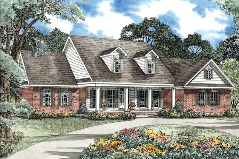 Architectural House Design - Country Exterior - Front Elevation Plan #17-3145