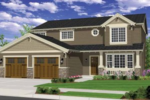 Craftsman Exterior - Front Elevation Plan #943-26