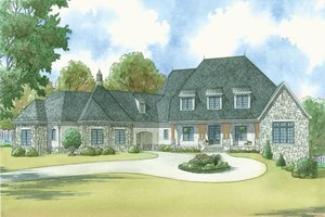 Country Exterior - Front Elevation Plan #923-42
