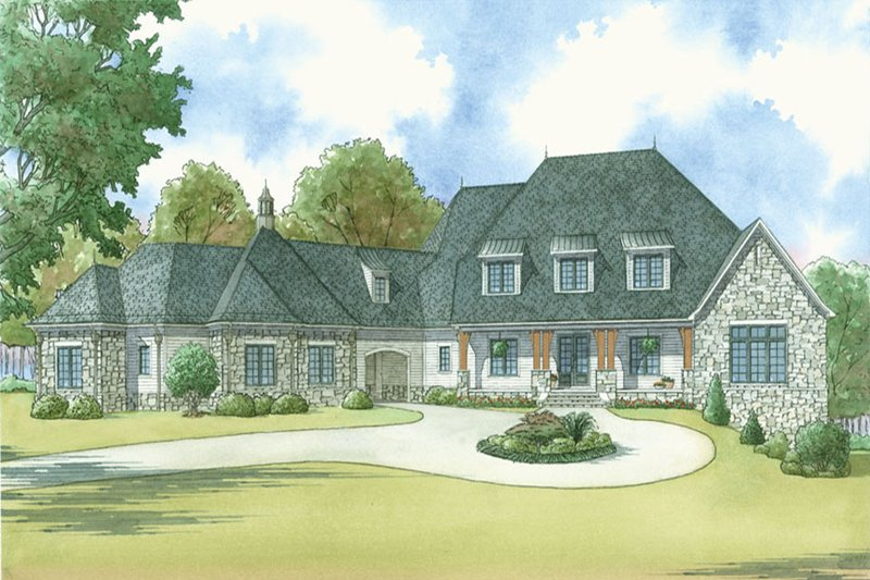 Home Plan - Country Exterior - Front Elevation Plan #923-42