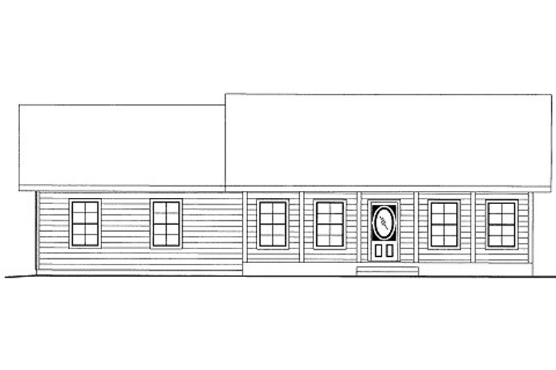 Bungalow Style House Plan - 3 Beds 2 Baths 1531 Sq/Ft Plan #117-802 Exterior - Front Elevation