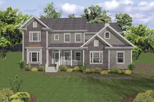 Architectural House Design - Country Exterior - Front Elevation Plan #56-668