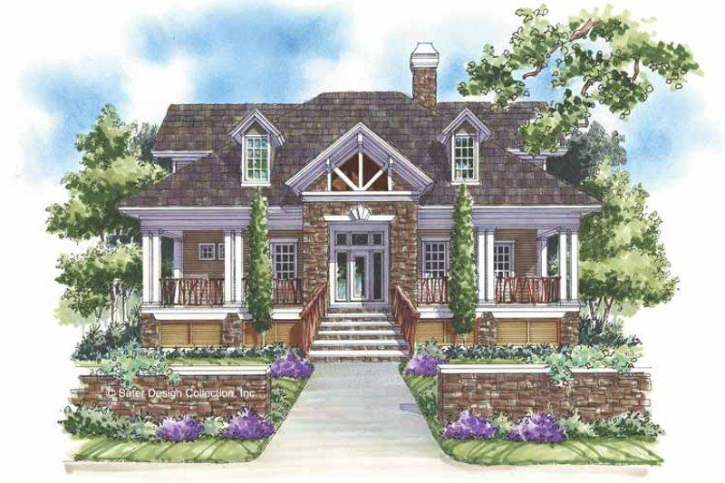 Craftsman Exterior - Front Elevation Plan #930-145