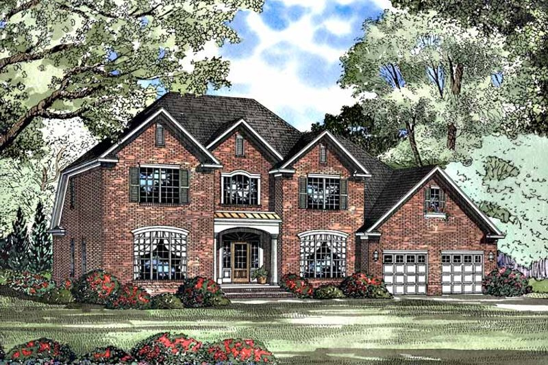 Colonial Exterior - Front Elevation Plan #17-3105
