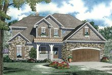 European Exterior - Front Elevation Plan #17-2932