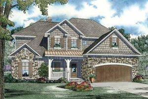 Architectural House Design - European Exterior - Front Elevation Plan #17-2932