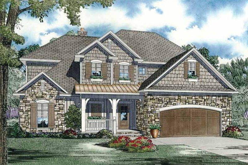 Home Plan - European Exterior - Front Elevation Plan #17-2932