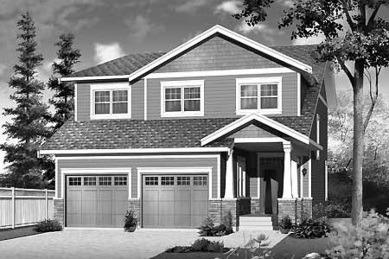 Craftsman Exterior - Front Elevation Plan #23-2483