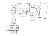 Traditional Style House Plan - 4 Beds 6 Baths 7829 Sq/Ft Plan #928-247 Floor Plan - Upper Floor Plan