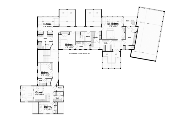 Architectural House Design - Traditional Floor Plan - Upper Floor Plan #928-247