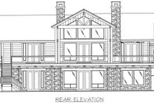 Bungalow Exterior - Rear Elevation Plan #117-386