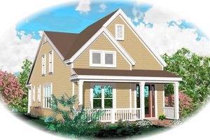 Country Exterior - Front Elevation Plan #81-13636