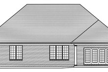 Colonial Exterior - Rear Elevation Plan #46-866