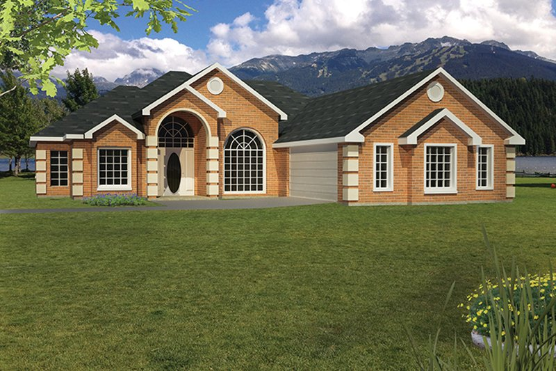 Ranch Exterior - Front Elevation Plan #1061-17 - Houseplans.com