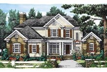 Colonial Exterior - Front Elevation Plan #927-849