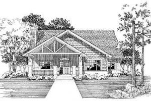 Cottage Exterior - Front Elevation Plan #72-128