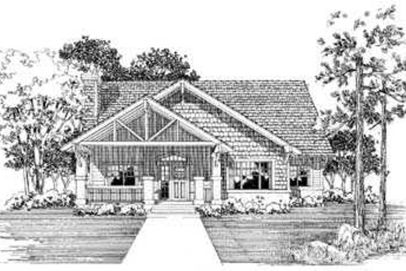 Cottage Exterior - Front Elevation Plan #72-128