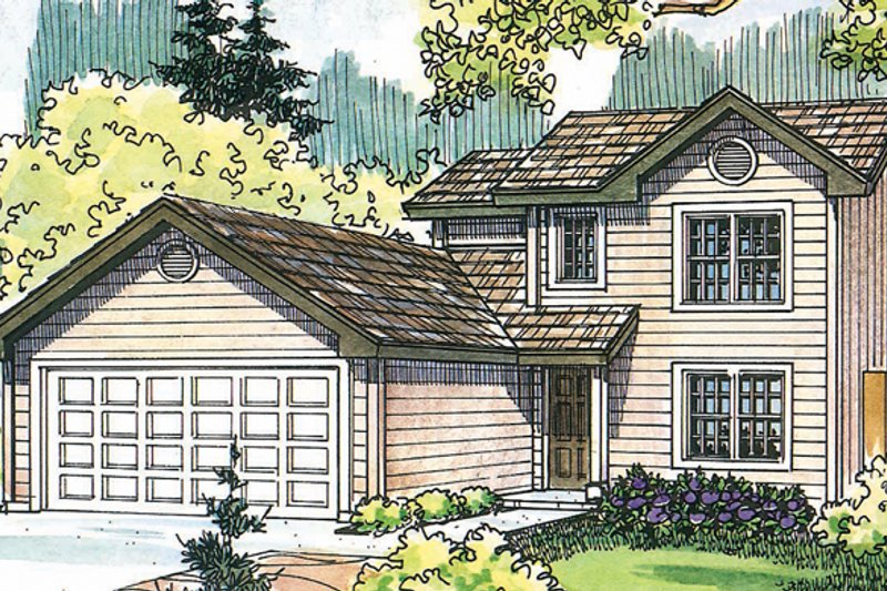 Exterior - Front Elevation Plan #124-470