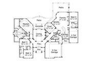 European Style House Plan - 4 Beds 3.5 Baths 3854 Sq/Ft Plan #411-263