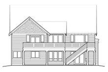Craftsman Exterior - Rear Elevation Plan #48-461