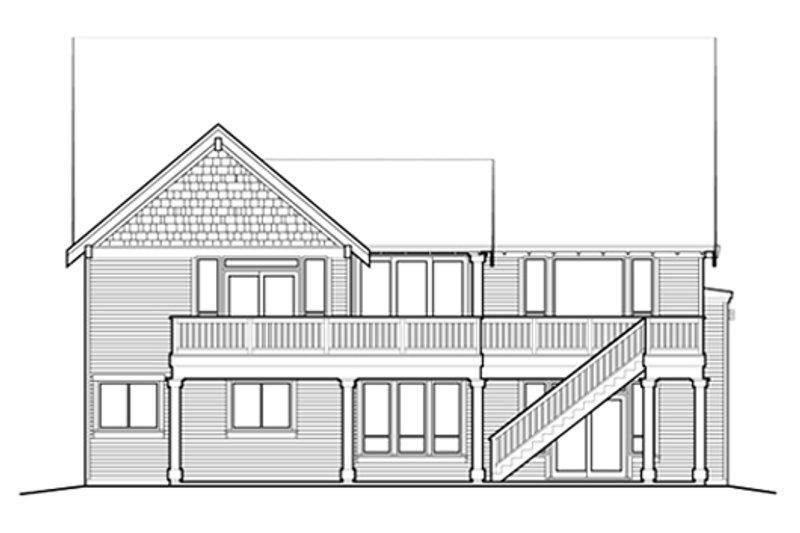 Craftsman Exterior - Rear Elevation Plan #48-461 - Houseplans.com