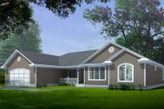 Traditional Style House Plan - 3 Beds 2.5 Baths 2163 Sq/Ft Plan #100-103 Exterior - Front Elevation