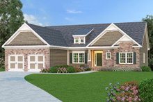 Dream House Plan - Craftsman Exterior - Front Elevation Plan #419-142
