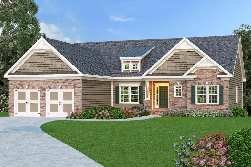 Craftsman Exterior - Front Elevation Plan #419-142