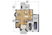 Traditional Style House Plan - 3 Beds 2 Baths 2438 Sq/Ft Plan #25-4486 Floor Plan - Main Floor Plan