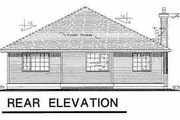 Traditional Style House Plan - 3 Beds 2 Baths 1602 Sq/Ft Plan #18-1007 Exterior - Rear Elevation