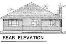 Home Plan Design - Traditional Exterior - Rear Elevation Plan #18-1007