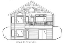 Home Plan - Traditional Exterior - Rear Elevation Plan #117-557