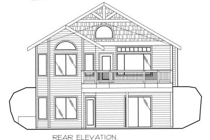 Traditional Exterior - Rear Elevation Plan #117-557 - Houseplans.com