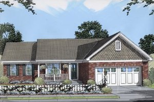 House Design - Cottage Exterior - Front Elevation Plan #46-116