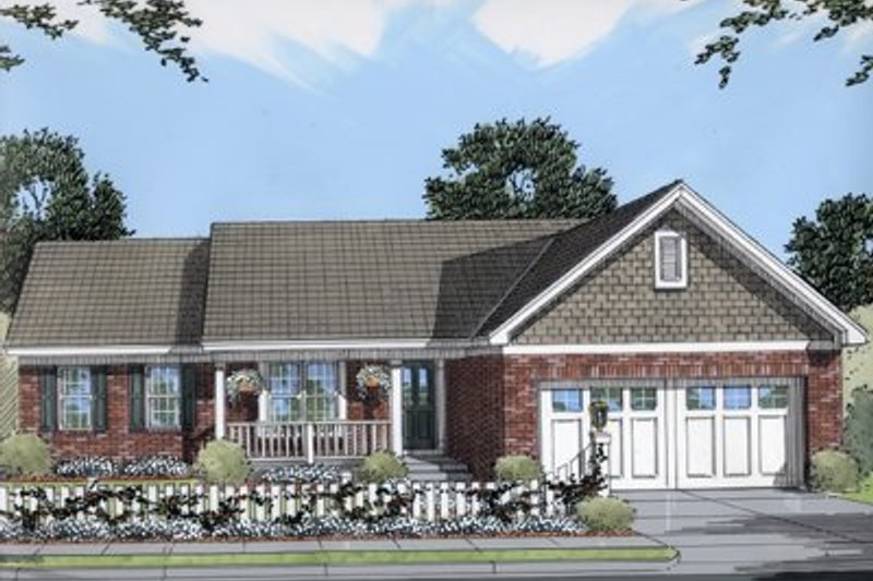 Cottage Exterior - Front Elevation Plan #46-116