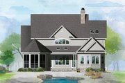 Country Style House Plan - 4 Beds 4.5 Baths 3418 Sq/Ft Plan #929-1060 Exterior - Rear Elevation