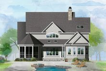 Country Exterior - Rear Elevation Plan #929-1060