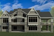 Craftsman Style House Plan - 6 Beds 7 Baths 8496 Sq/Ft Plan #920-42 Exterior - Rear Elevation
