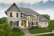 Home Plan - Traditional Exterior - Front Elevation Plan #56-605