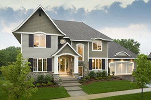 Traditional Exterior - Front Elevation Plan #56-605