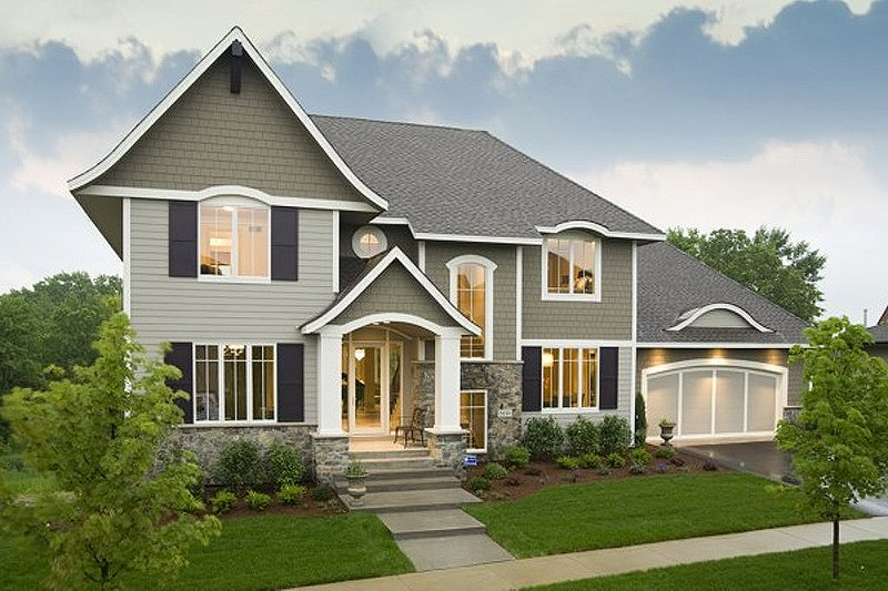 Traditional Exterior - Front Elevation Plan #56-605 - Houseplans.com