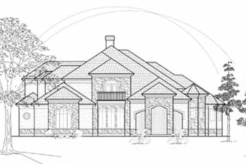 European Exterior - Front Elevation Plan #61-298