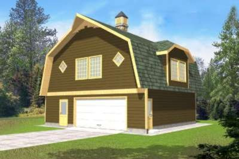 Country Exterior - Front Elevation Plan #117-481 - Houseplans.com