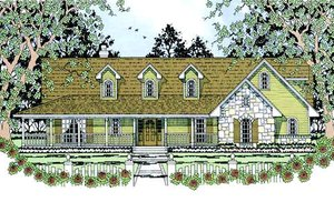 Farmhouse Exterior - Front Elevation Plan #42-393