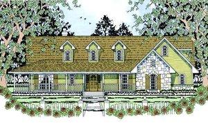 Architectural House Design - Farmhouse Exterior - Front Elevation Plan #42-393