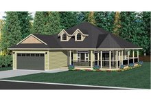 Home Plan - Craftsman Exterior - Front Elevation Plan #126-221