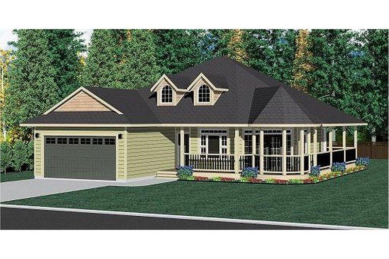 Craftsman Style House Plan - 3 Beds 2 Baths 1597 Sq/Ft Plan #126-221