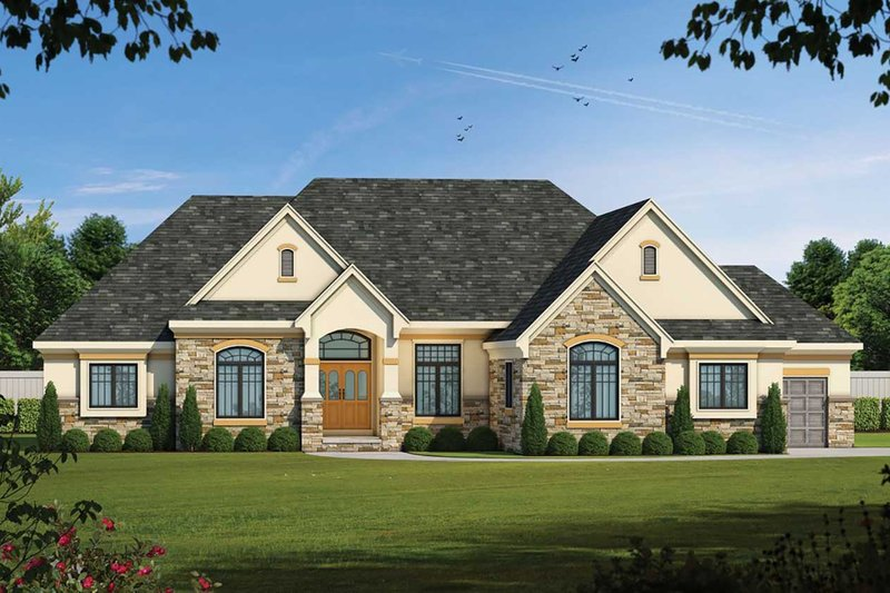 Dream House Plan - Country Exterior - Front Elevation Plan #20-2192